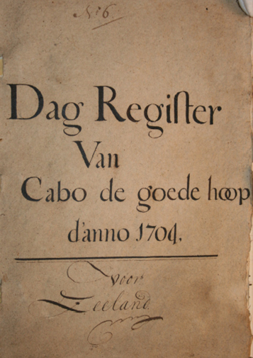 Title page of old document with serif font
