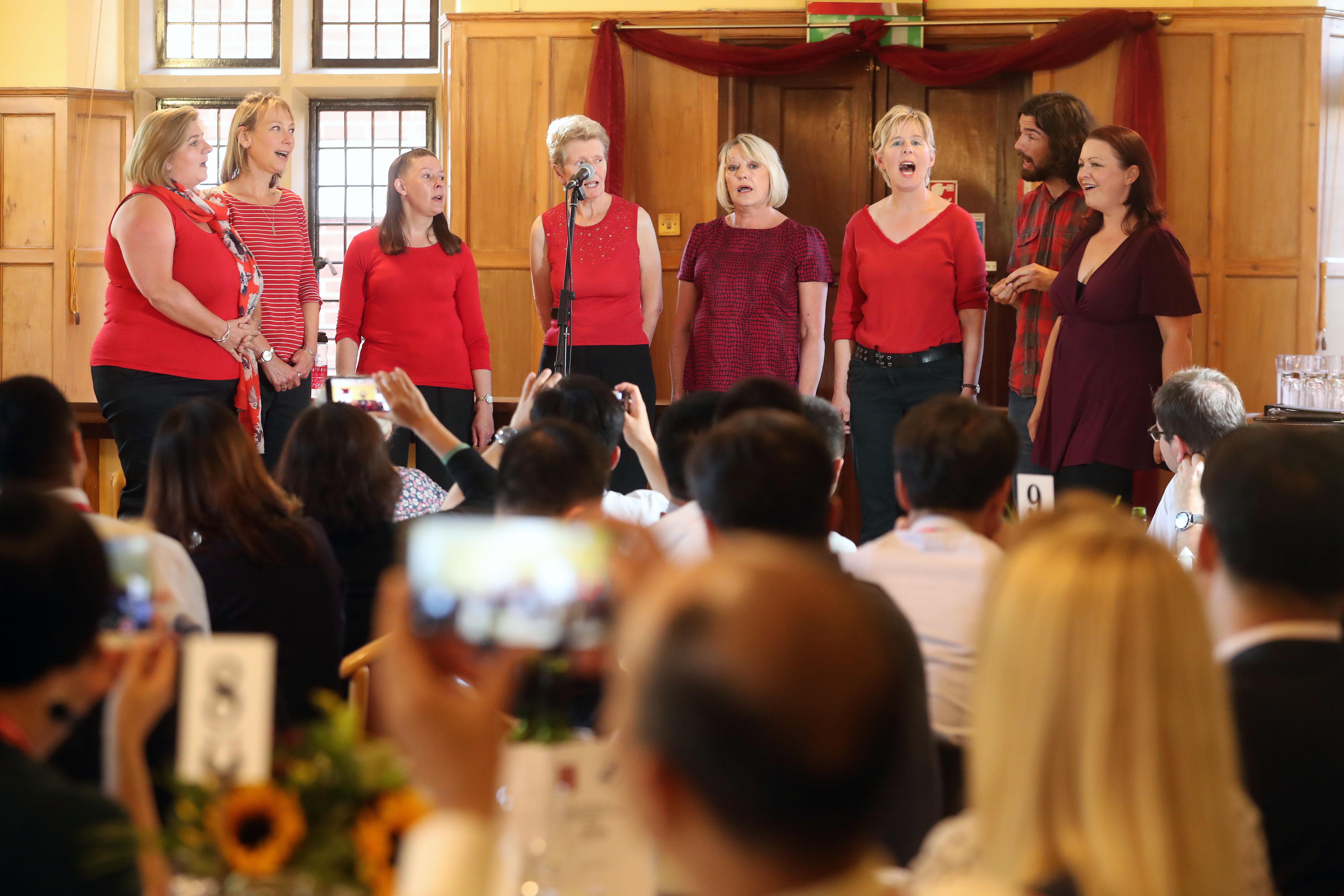 Welcome Dinner Cardiff University Staff Choir