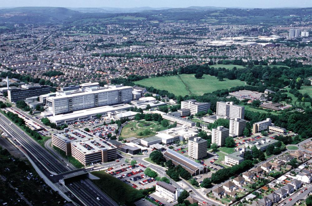 Aerial shot of Heath hospital