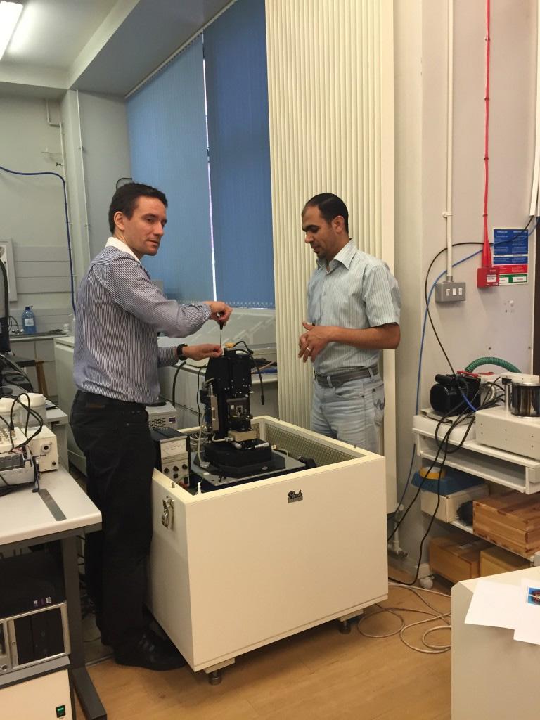 Dr Emmanuel Brousseau with colleague