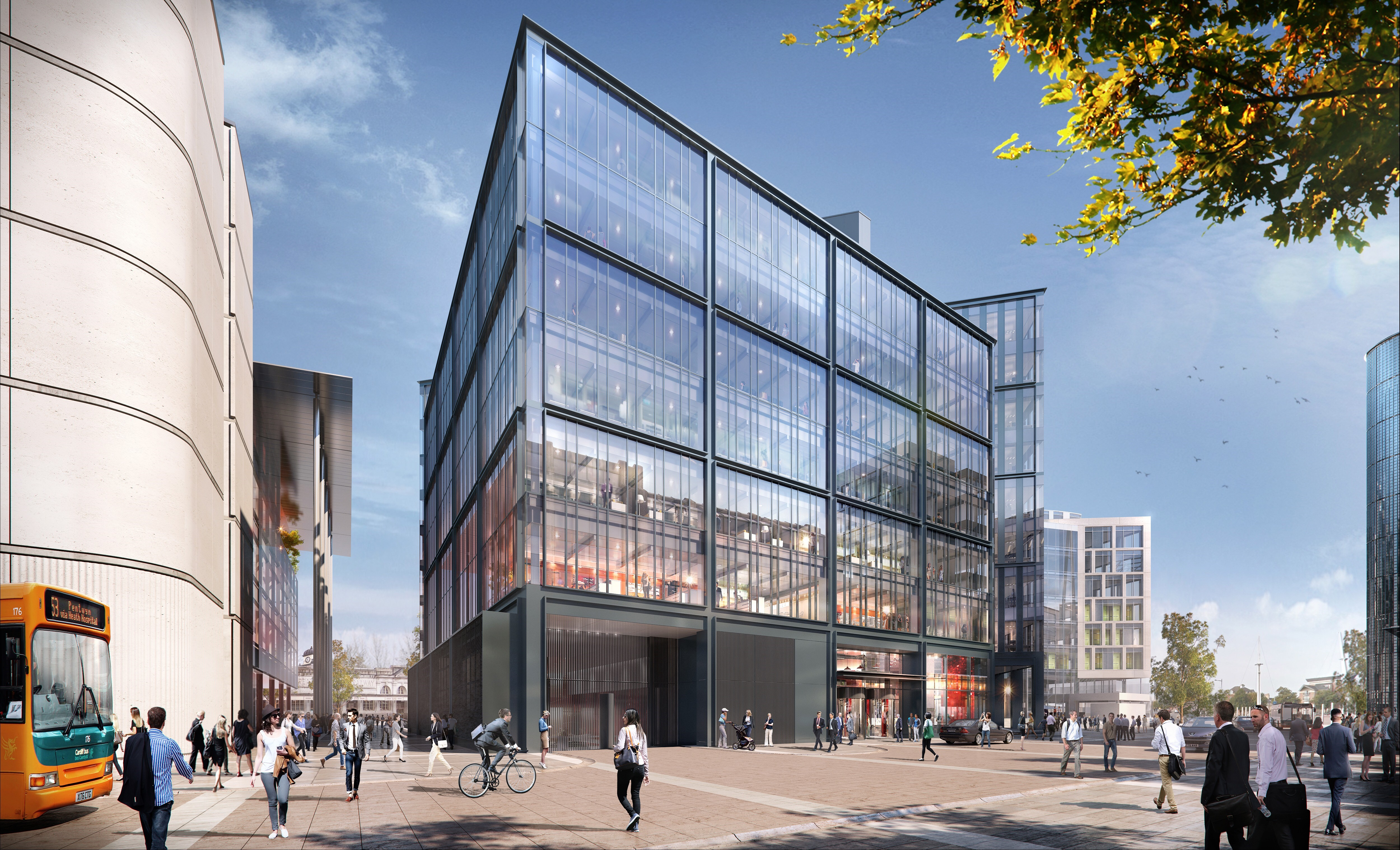 CGI - BBC and JOMEC building