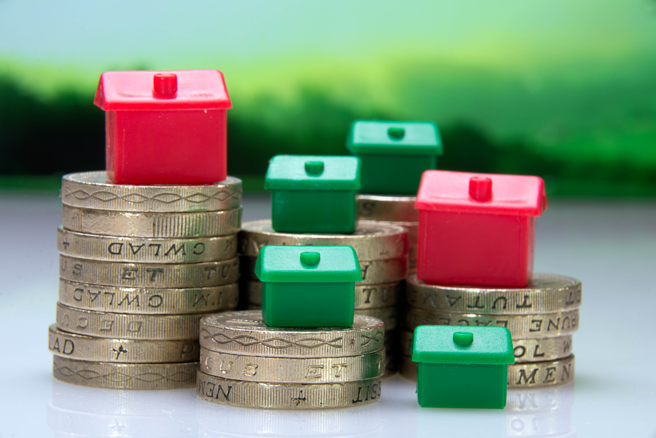 Monopoly houses on pound coins