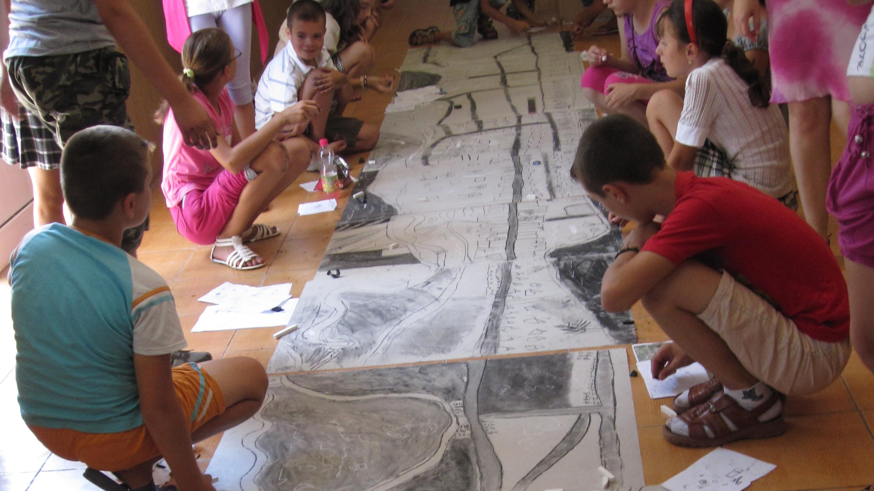 Children participating in workshop